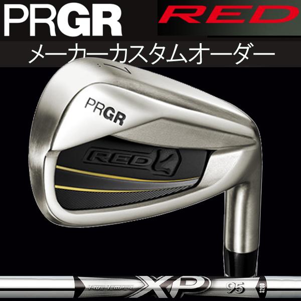 【メーカーカスタム】プロギア 新 RED チタンフェース アイアン[NEW XP シリーズ] XP 115/105/95 スチールシャフト 5本セット(#6~#9,PW) PRGR RED 新 レッド(赤) TITAN FACE IRON DYNAMIC GOLD