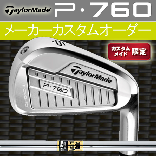 【限定モデル】テーラーメイド P・760 アイアン 6本セット(#5~PW) [ダイナミックゴールド シリーズ] スチールシャフトDG/DGSL TaylorMade P760 iron