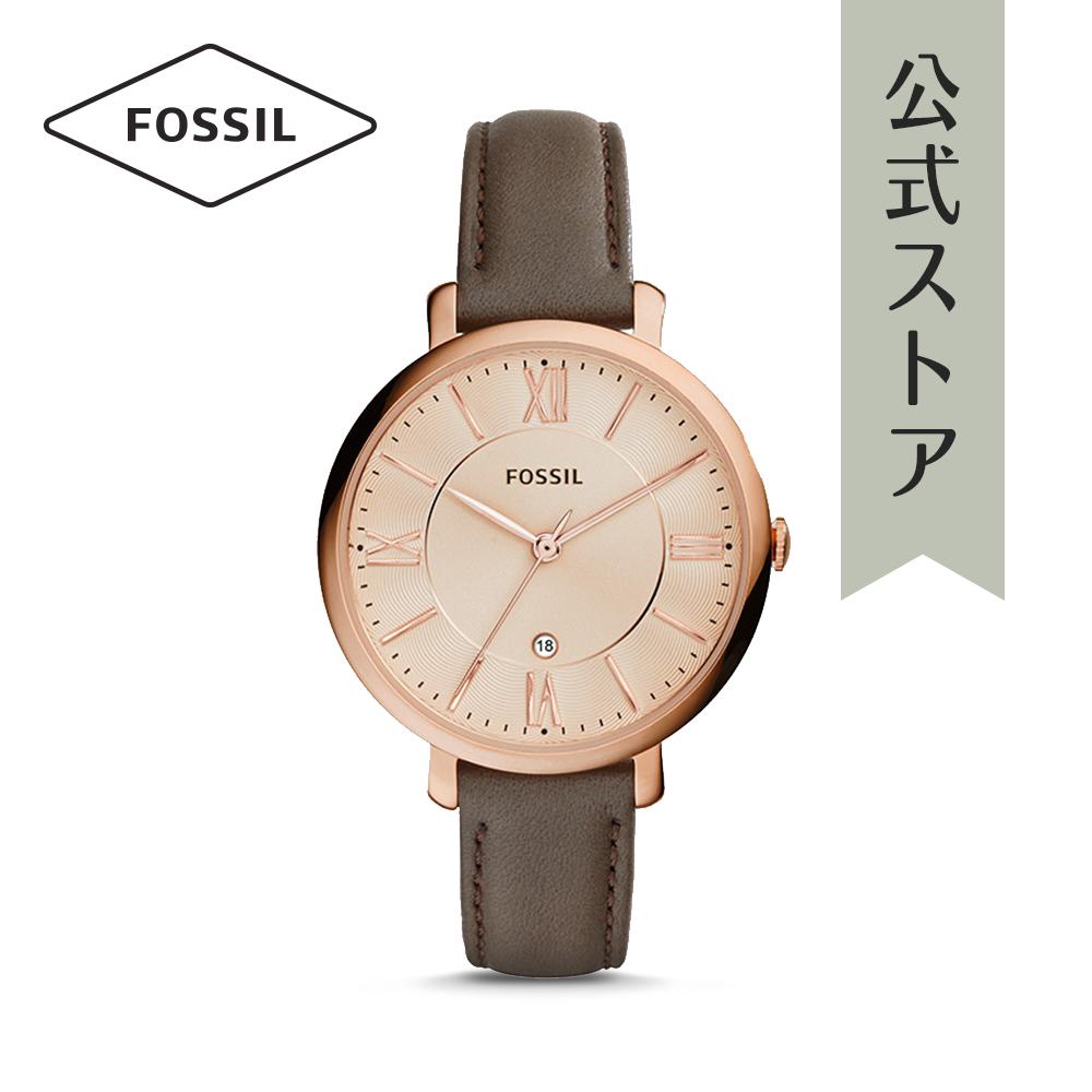 『公式ショッパープレゼント』フォッシル 腕時計 公式 2年 保証 Fossil レディース ジャクリーン ES3707 JACQUELINE