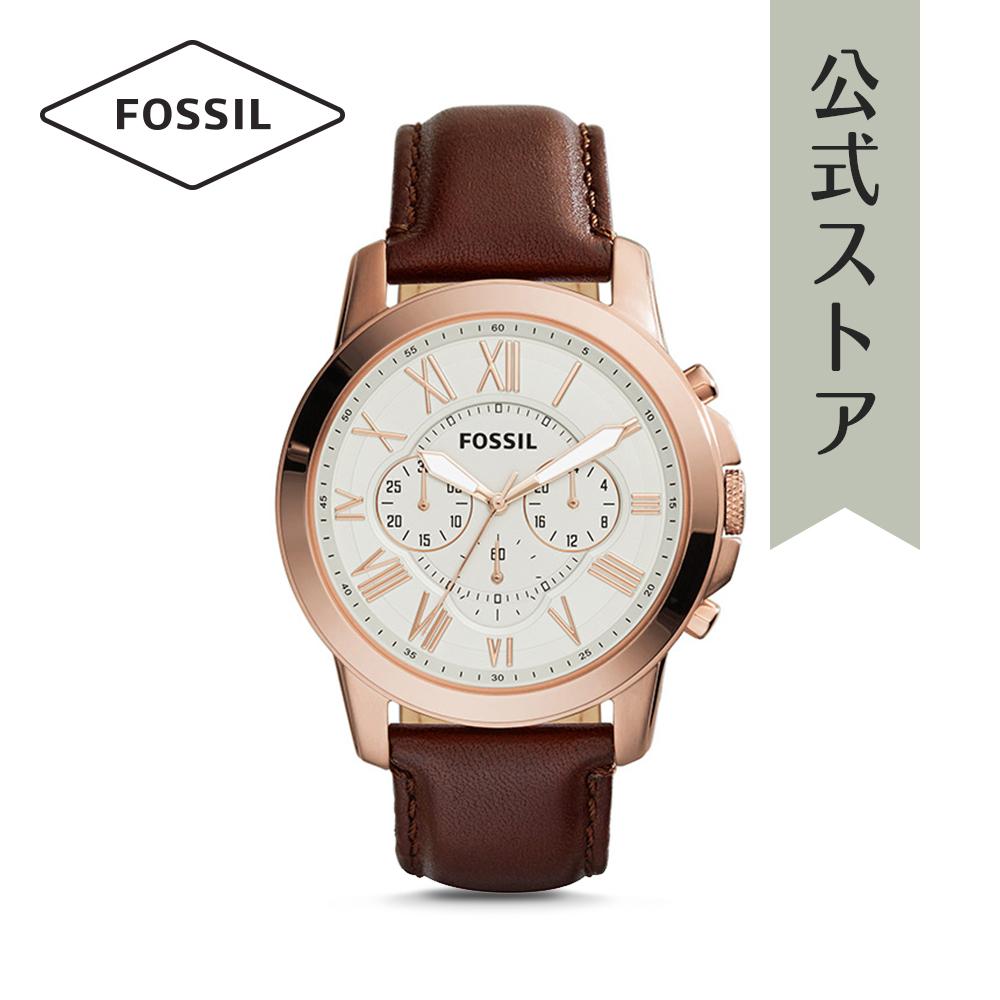 『公式ショッパープレゼント』フォッシル 腕時計 公式 2年 保証 Fossil メンズ グラント FS4991 GRANT