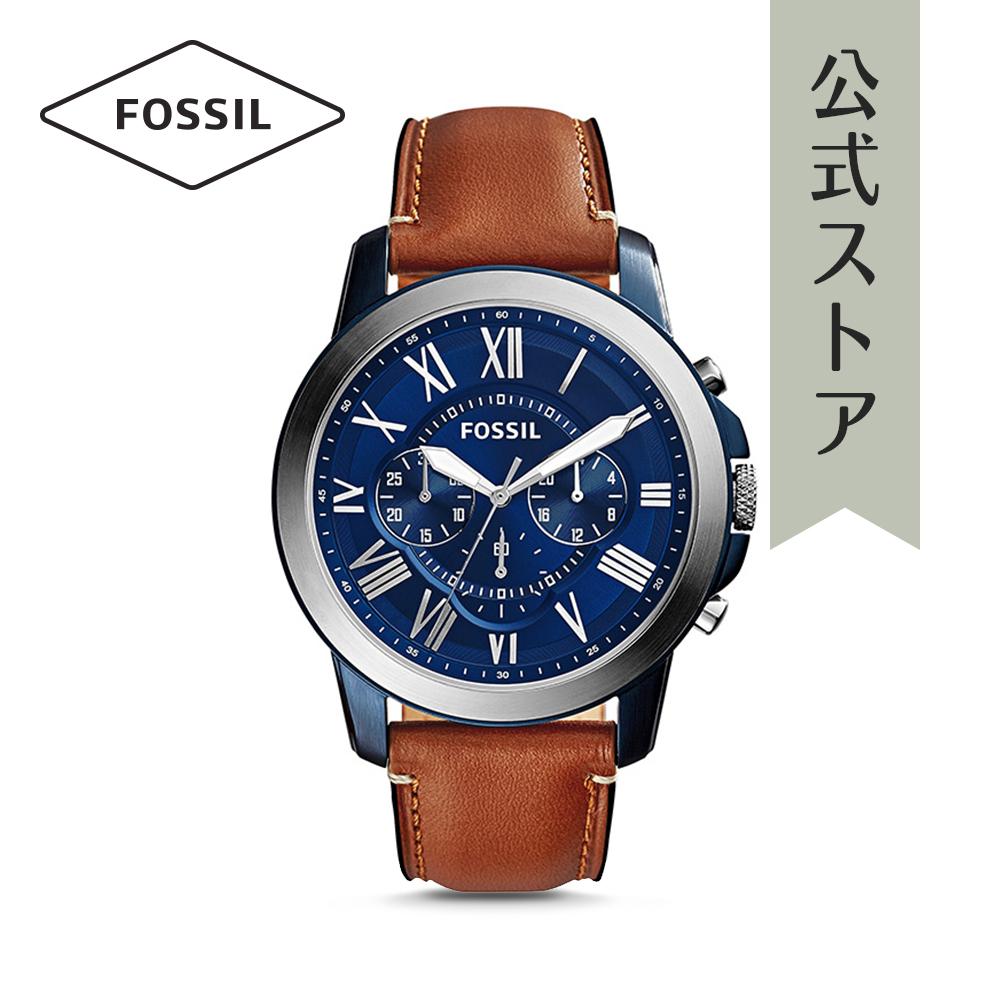 『公式ショッパープレゼント』フォッシル 腕時計 公式 2年 保証 Fossil メンズ グラント FS5151 GRANT