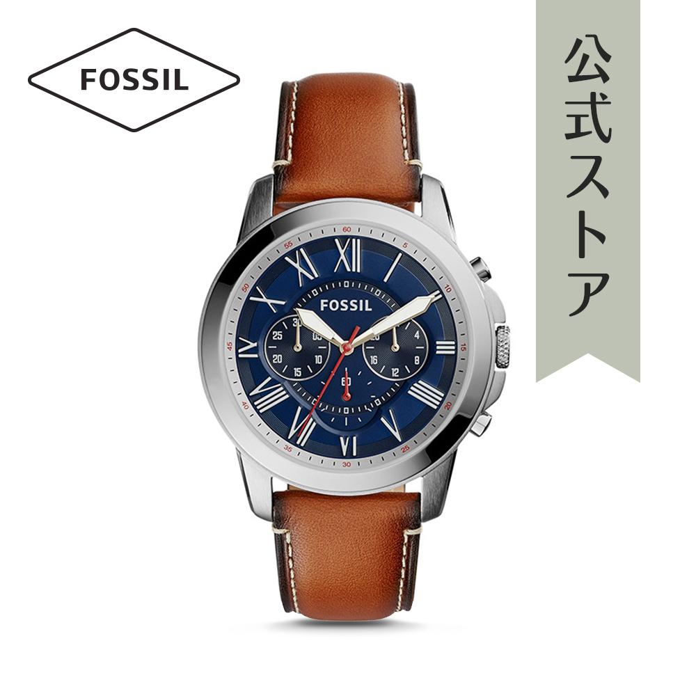 『公式ショッパープレゼント』フォッシル 腕時計 公式 2年 保証 Fossil メンズ グラント FS5210 GRANT