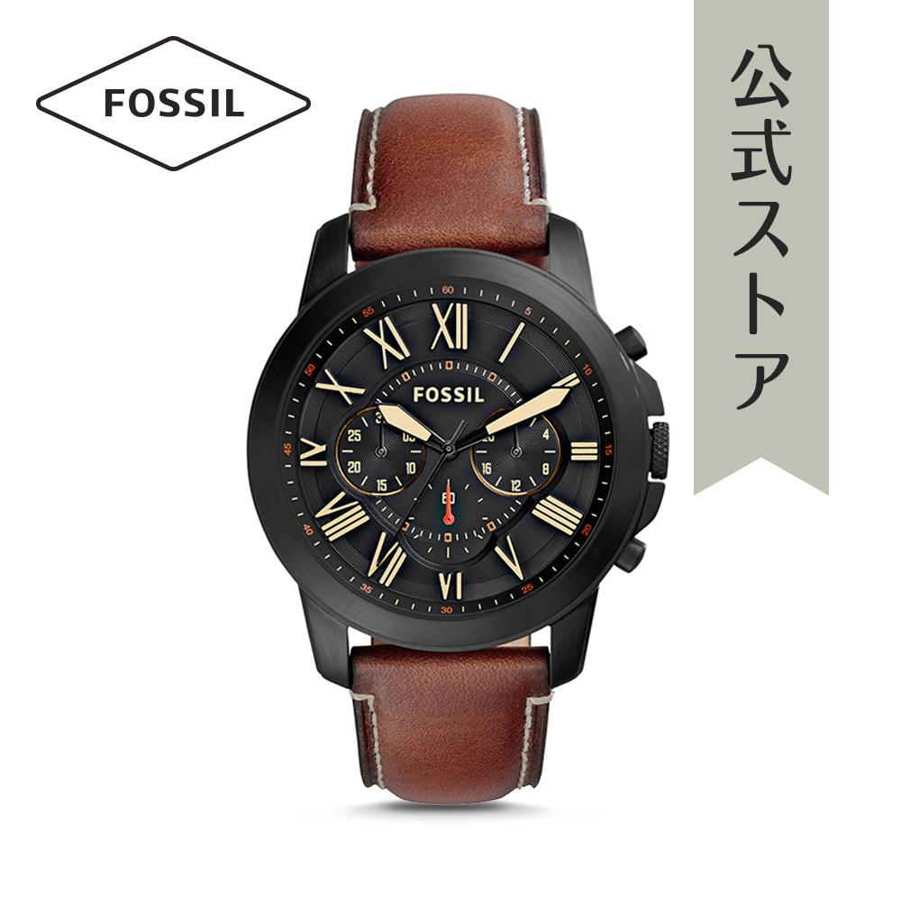『公式ショッパープレゼント』フォッシル 腕時計 公式 2年 保証 Fossil メンズ グラント FS5241 GRANT