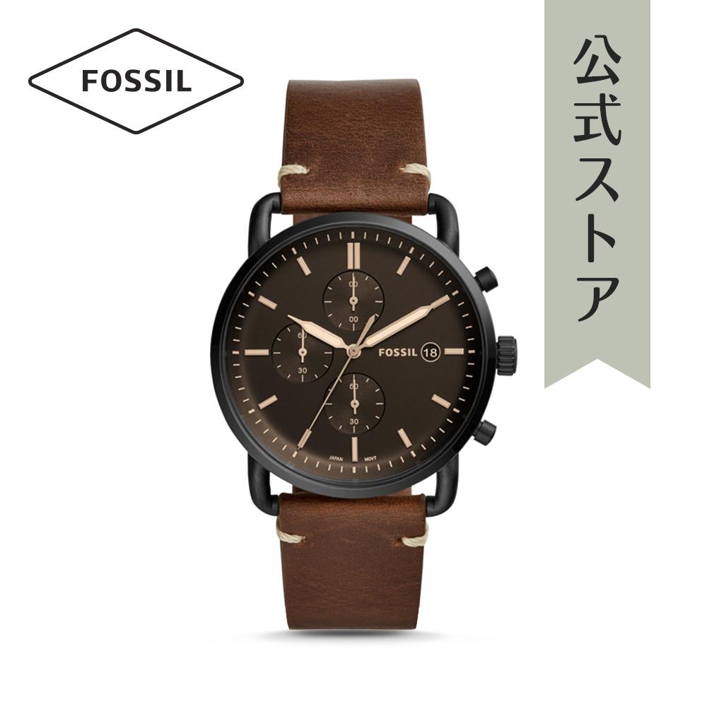 『公式ショッパープレゼント』フォッシル 腕時計 公式 2年 保証 Fossil メンズ コミューター クロノ FS5403 THE COMMUTER CHRONO