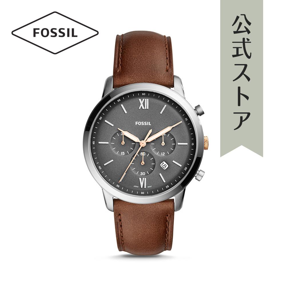 『公式ショッパープレゼント』フォッシル 腕時計 公式 2年 保証 Fossil メンズ ノイトラ クロノ FS5408 NEUTRA CHRONO