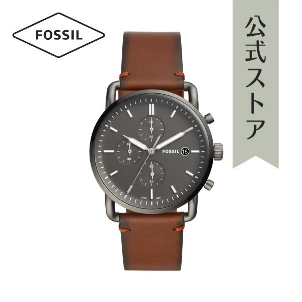 『公式ショッパープレゼント』2019 春の新作 フォッシル 腕時計 公式 2年 保証 Fossil メンズ FS5523 THE COMMUTER CHRONO 42mm