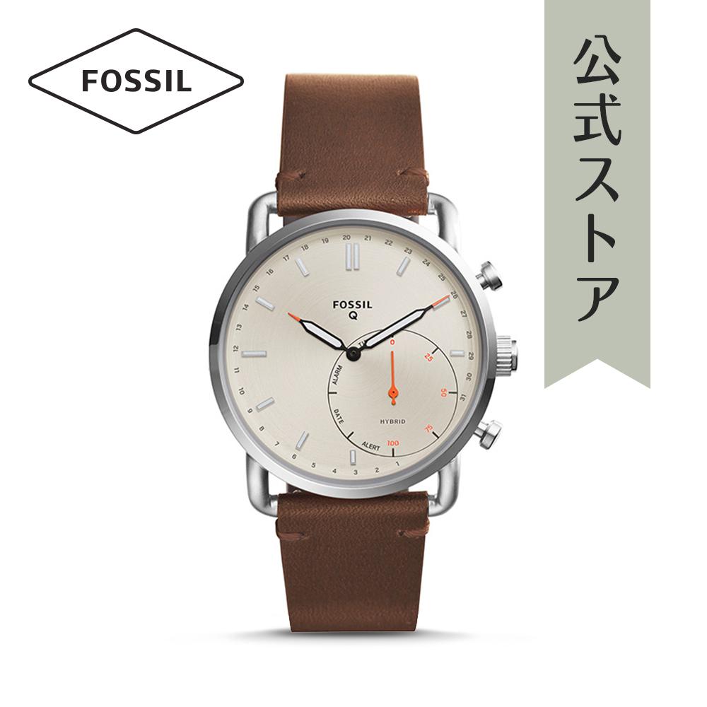 『公式ショッパープレゼント』フォッシル ハイブリッド スマートウォッチ 公式 2年 保証 Fossil iphone android 対応 ウェアラブル Smartwatch 腕時計 メンズ コミューター FTW1150 COMMUTER