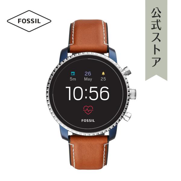 『公式ショッパープレゼント』ジェネレーション4 フォッシル タッチスクリーン スマートウォッチ 公式 2年保証 Fossil Smartwatch 腕時計 メンズ エクスプローリースト FTW4016 EXPLORIST HR