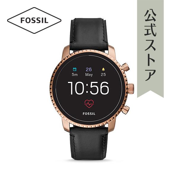『公式ショッパープレゼント』ジェネレーション4 フォッシル タッチスクリーン スマートウォッチ 公式 2年保証 Fossil Smartwatch 腕時計 メンズ エクスプローリースト FTW4017 EXPLORIST HR