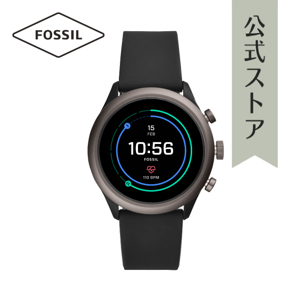『公式ショッパープレゼント』フォッシル タッチ スクリーン スマートウォッチ 公式 2年保証 Fossil Sport Smartwatch 腕時計 メンズ FTW4019 43mm