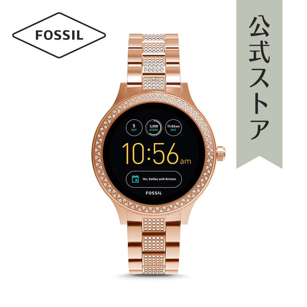 『公式ショッパープレゼント』30%OFF Gen3 フォッシル タッチスクリーン スマートウォッチ 公式 2年 保証 Fossil iphone android 対応 ウェアラブル Smartwatch 腕時計レディース ベンチャー FTW6008 VENTURE