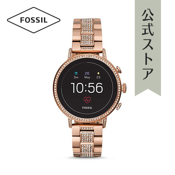 『公式ショッパープレゼント』ジェネレーション4 フォッシル タッチスクリーン スマートウォッチ 公式 2年保証 Fossil Smartwatch 腕時計 レディース ベンチャー FTW6011 VENTURE HR