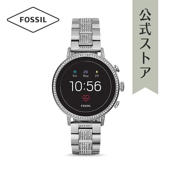 『公式ショッパープレゼント』ジェネレーション4 フォッシル タッチスクリーン スマートウォッチ 公式 2年保証 Fossil Smartwatch 腕時計 レディース ベンチャー FTW6013 VENTURE HR