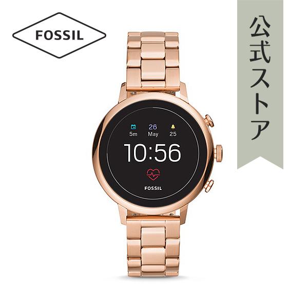 『公式ショッパープレゼント』ジェネレーション4 フォッシル タッチスクリーン スマートウォッチ 公式 2年保証 Fossil Smartwatch 腕時計 レディース ベンチャー FTW6018 VENTURE HR