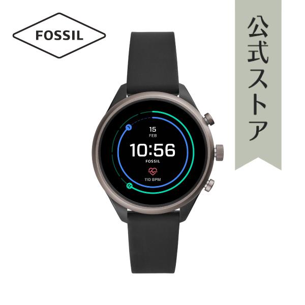 『公式ショッパープレゼント』フォッシル タッチ スクリーン スマートウォッチ 公式 2年保証 Fossil Sport Smartwatch 腕時計 レディース FTW6024 41mm