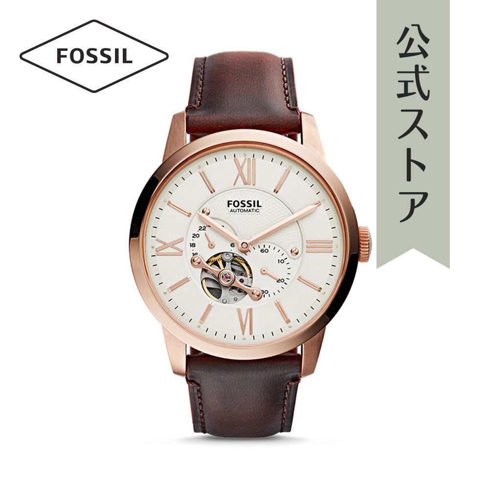 『公式ショッパープレゼント』フォッシル 腕時計 公式 2年 保証 Fossil メンズ タウンズマン オートマチック ME3105 TOWNSMAN AUTOMATIC
