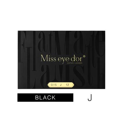 Miss eye d'or オードリーコレクション SEAL限定商品 FLAT MATTE LASH ファッション通販 Jカール 0.15mm×11mm