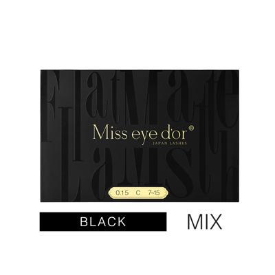 Miss 70%OFFアウトレット eye 買取 d'or オードリーコレクション FLAT MATTE Cカール 7-15mm サイズMix 0.15mm LASH