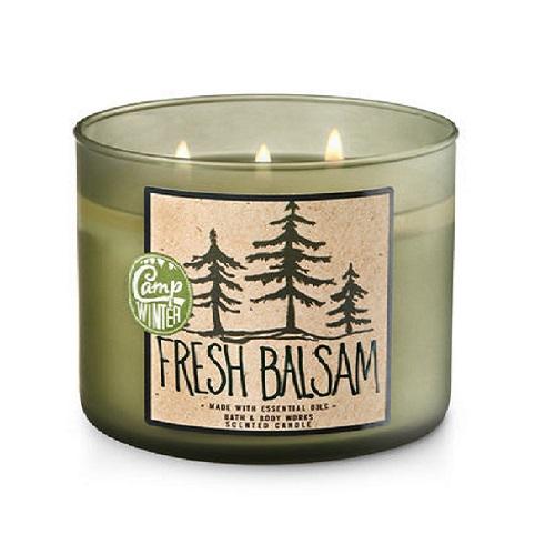 Bath Body Works 冬季限定キャンドル バス 5%OFF ボディワークス 通販 激安◆ フレッシュバルサム キャンドル 411 FRESH Candle g oz BALSAM 14.5