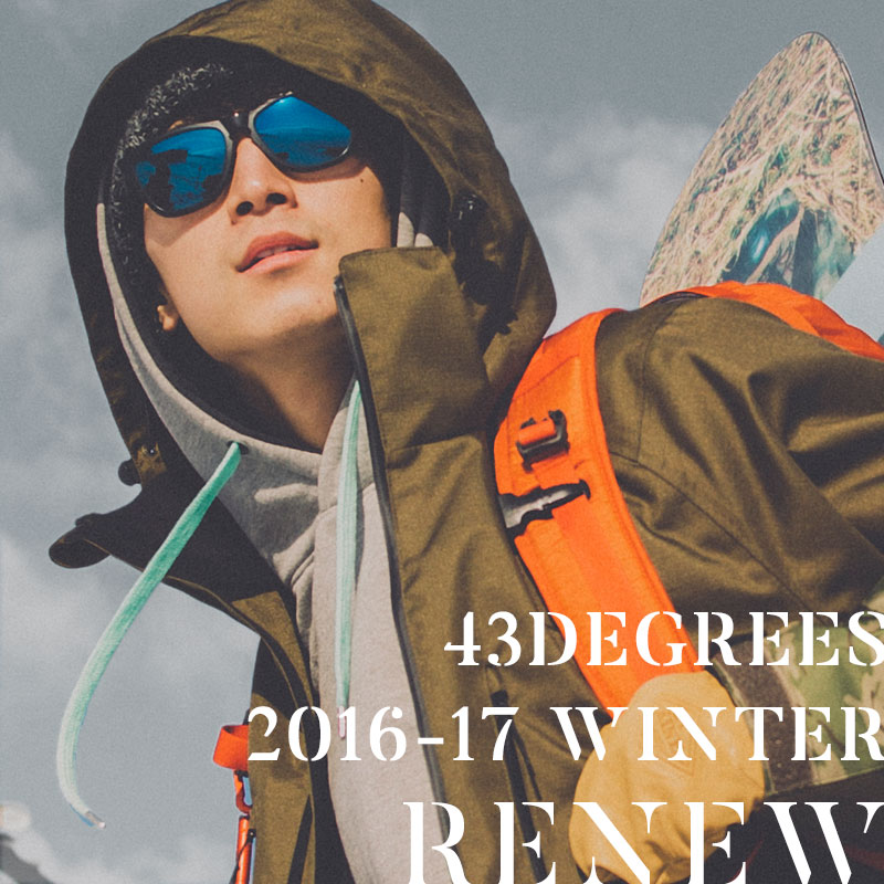 16 ' 신작 43DEGREES 스노우보드 웨어 남성용 스키 웨어 스노 보드 웨어 상하 세트