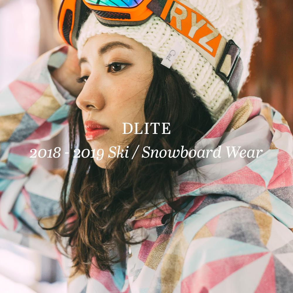 スノーボードウェア レディース スキーウェア 上下 セット DLITE 型落ち スノボウェア スノーボード ウェア スノボ  ボードウェア 大きいサイズ 2018-2019 送料無料【返品不可】