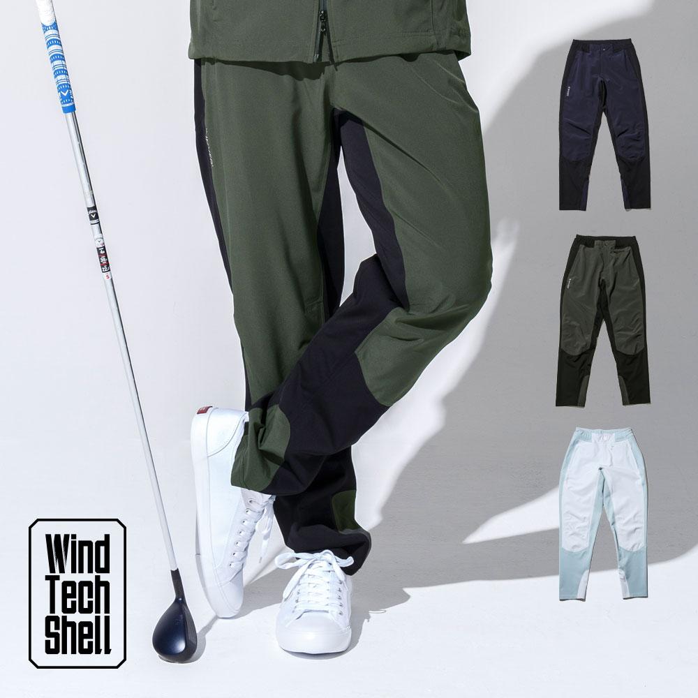 ストレッチ 2パネル パンツ / ゴルフウェア メンズ 春 秋 冬 おしゃれ 長袖 S/M/L ゴルフ レインウェア ウィンドブレーカー
