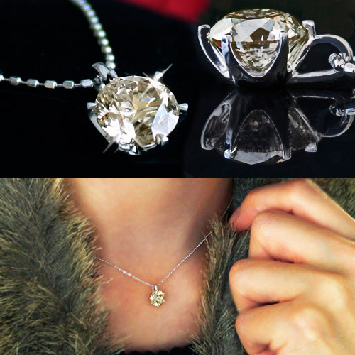 1ct ダイヤモンド ネックレス 一粒 1カラット プラチナ SI ペンダント 1ct/SIクラス プラチナ900 (Pt900 ) ダイヤモンド ティファニーセッティング ダイヤネックレス (6本爪)【 鑑定書付 】