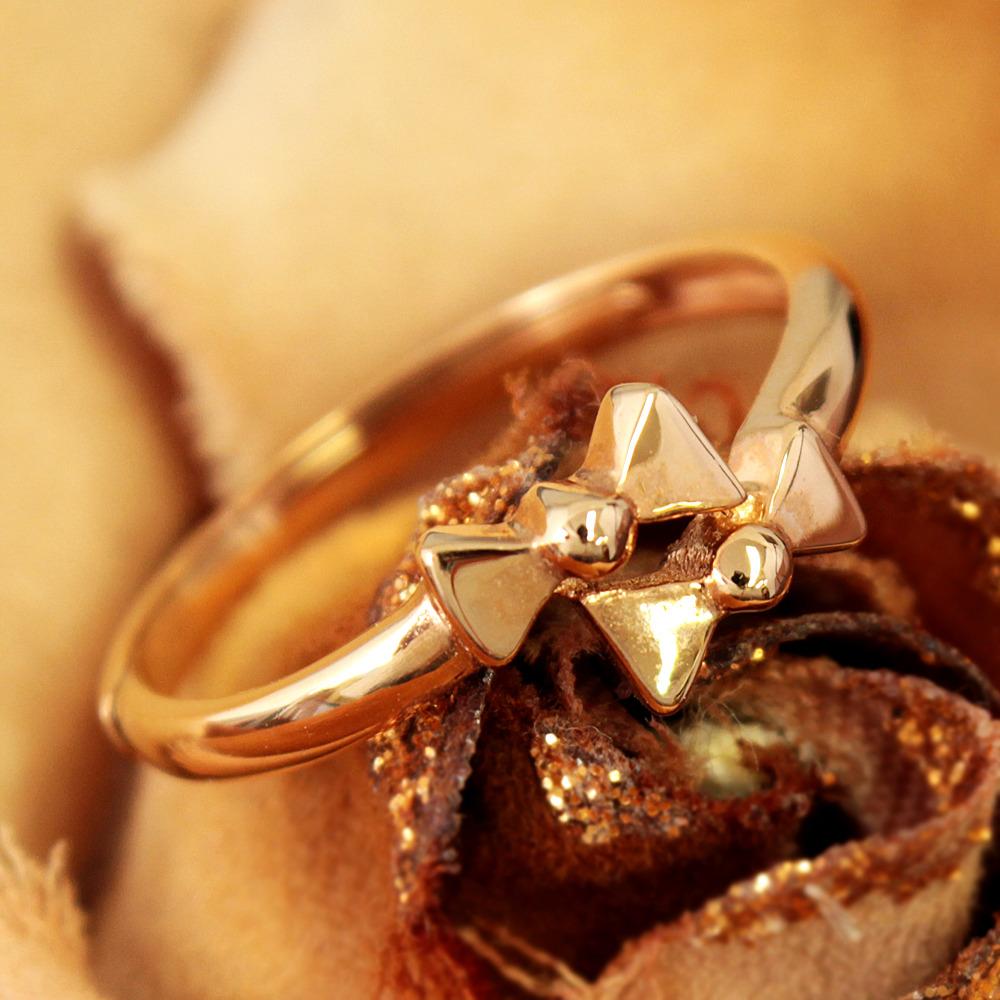 K18 ピンクゴールド ツイン リボン フリーサイズ リング 18金 指輪 1.823g// 【コンビニ受取対応商品】