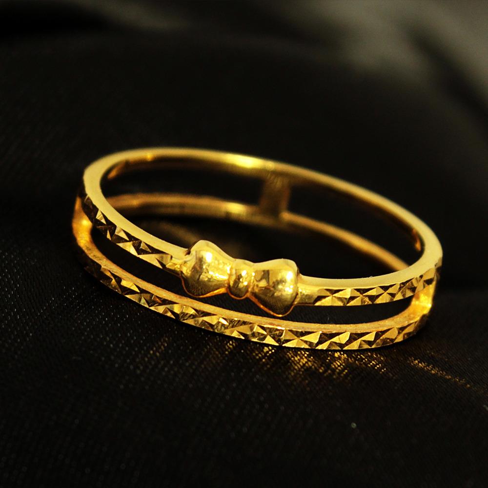 K18 イエローゴールド リボン デザイン リング 18金 指輪 1.922g// 【コンビニ受取対応商品】
