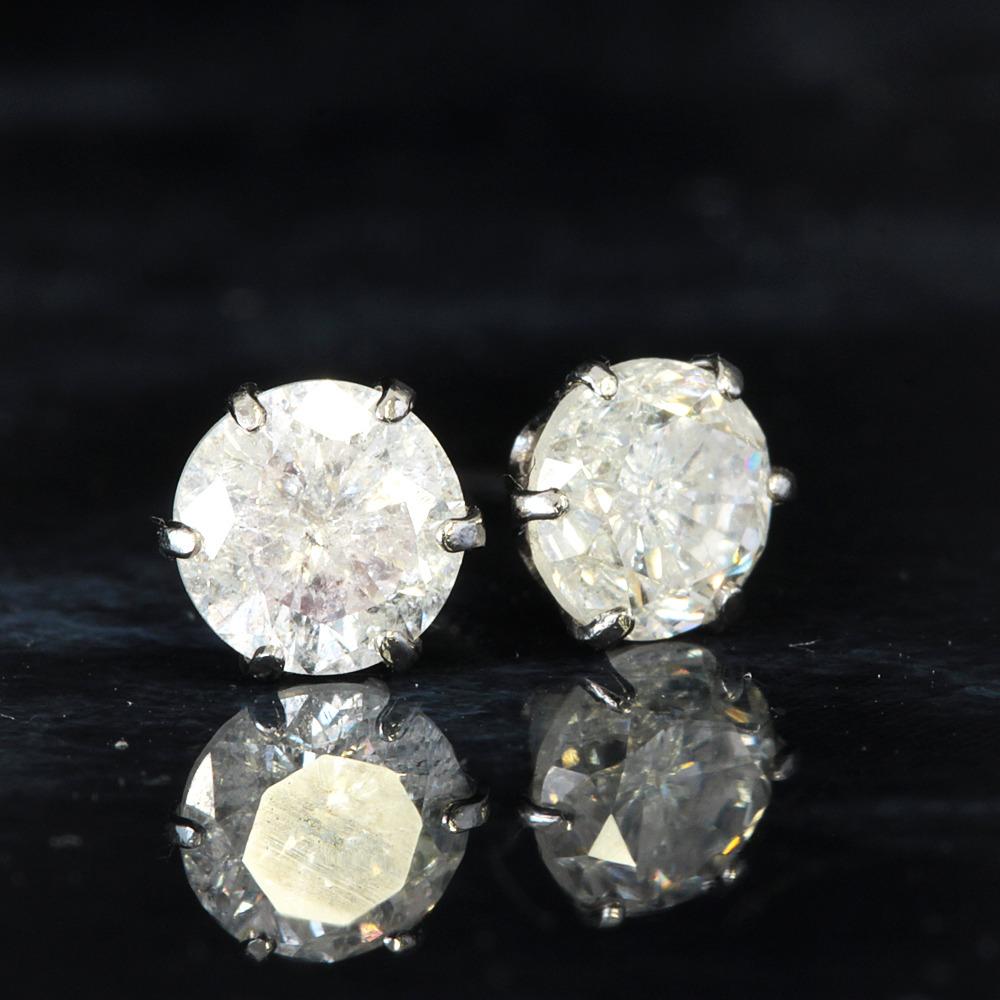 【鑑別書付】 計0.9ct 天然 ダイヤモンド Pt900 ピアス 4月誕生石 【コンビニ受取対応商品】