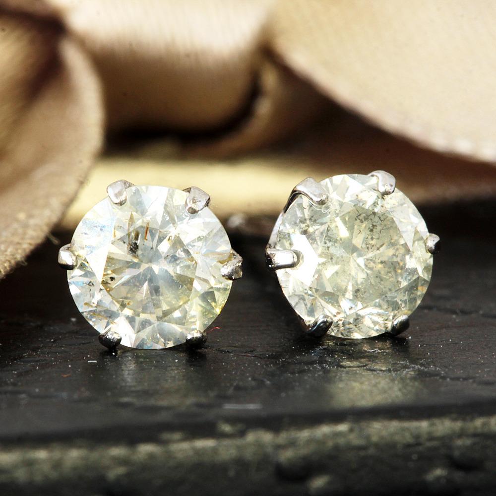 【鑑別書付】 計0.2ct 天然 ダイヤモンド SI-VSクラス Pt900 ピアス 4月誕生石 【コンビニ受取対応商品】