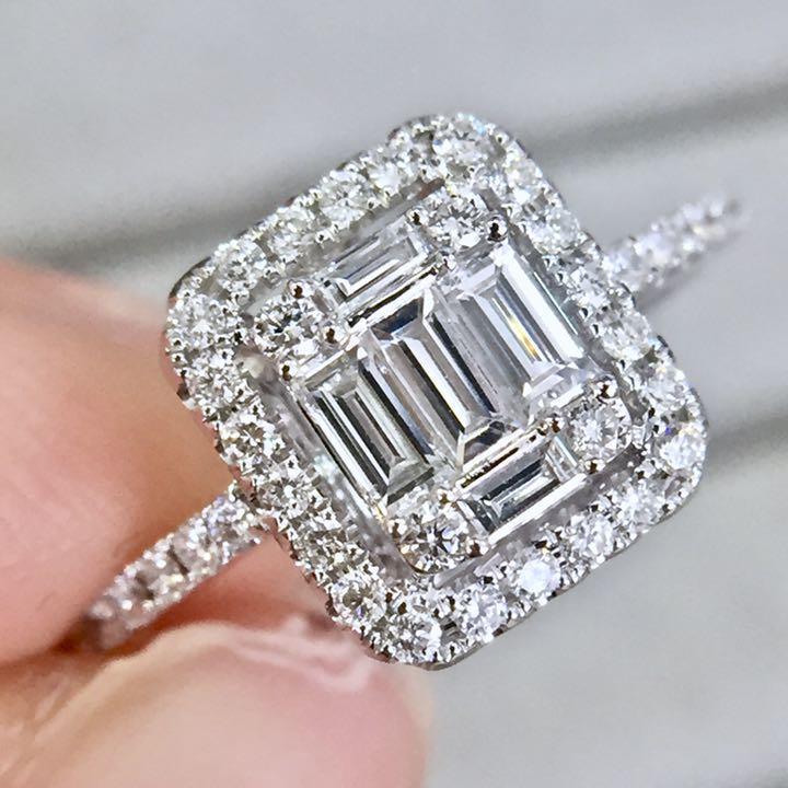 【鑑別書付】Gカラー ダイヤモンド 高透明度 K18WG ホワイトゴールド リング 指輪 4月誕生石// 【コンビニ受取対応商品】