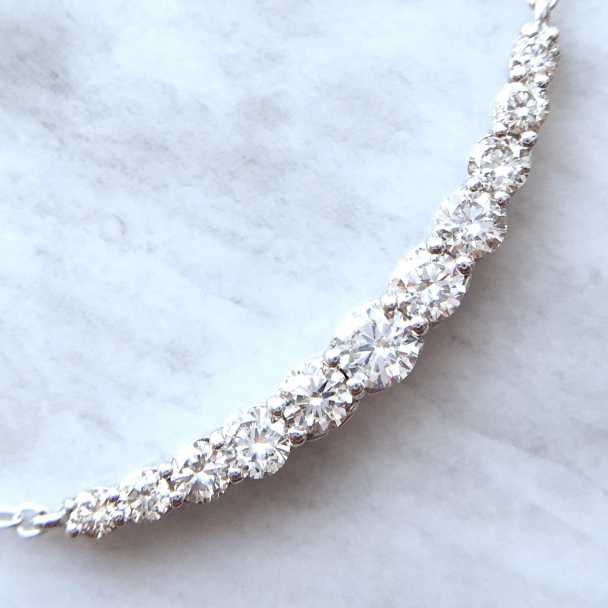 【鑑別書付】 0.5ct ダイヤモンド SI-VS K18 ホワイトゴールド ペンダント ネックレス 4月誕生石// 【コンビニ受取対応商品】
