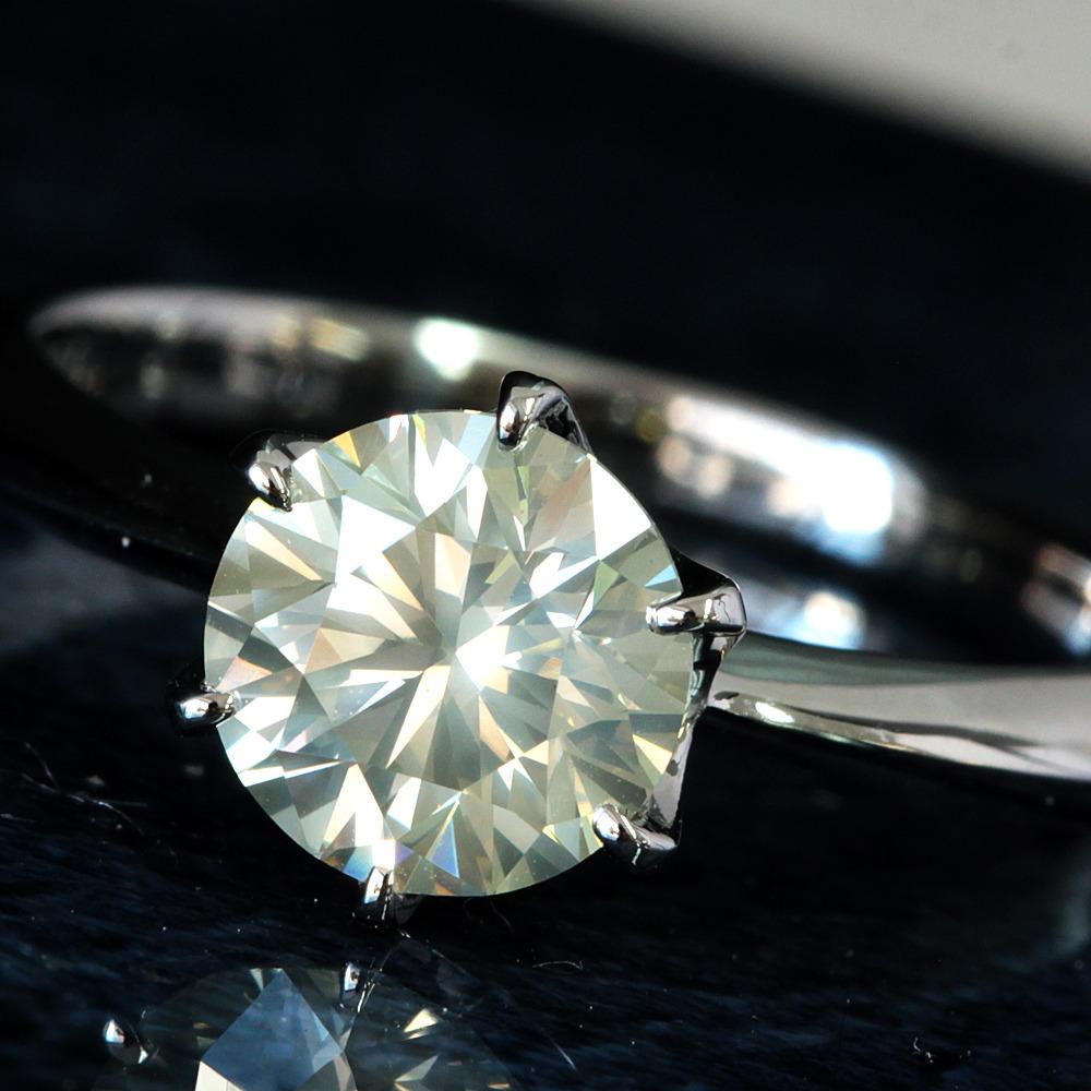 【在庫処分値下げ】 【鑑定書付】1ct K SI-2 V.Good ダイヤモンド Pt900プラチナ リング 指輪 4月誕生石// 【コンビニ受取対応商品】