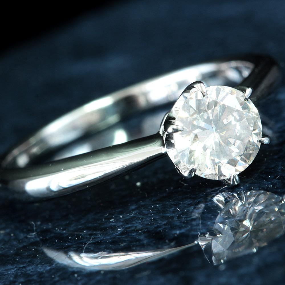 【在庫処分値下げ】 【鑑定書付】0.6ct K SI-2 Good ダイヤモンド Pt900プラチナ リング 指輪 4月誕生石// 【コンビニ受取対応商品】