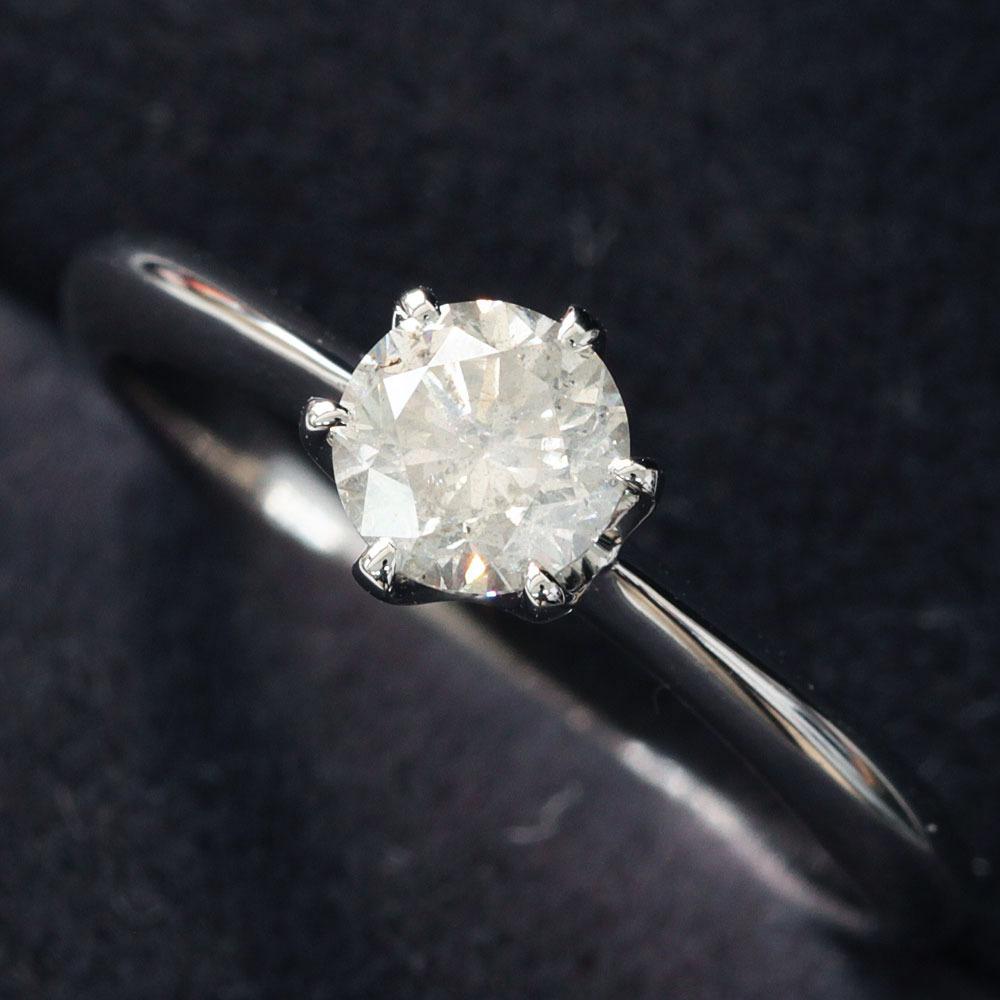 【在庫処分値下げ】 【鑑定書付】0.5ct K SI-2 ダイヤモンド Pt900プラチナ リング 指輪 4月誕生石// 【コンビニ受取対応商品】