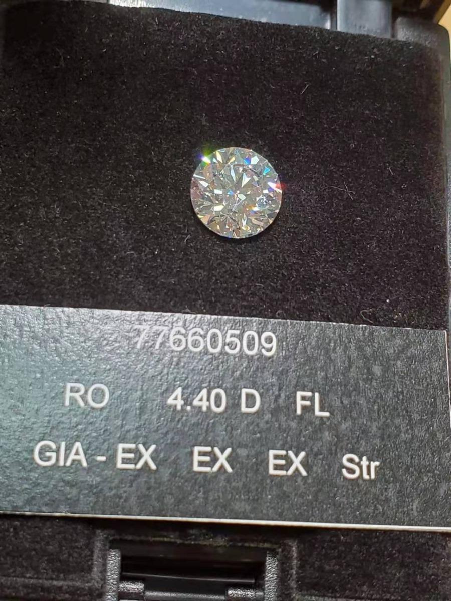 One&Only Jewellery 【GIA鑑定書付】4.4ct Dカラー FL 3EX ダイヤモンド ルース