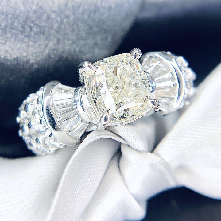 【在庫処分値下げ】 【鑑定書付】2ct I SI-1 ダイヤモンド Pt900プラチナ リング 指輪 4月誕生石// 【コンビニ受取対応商品】