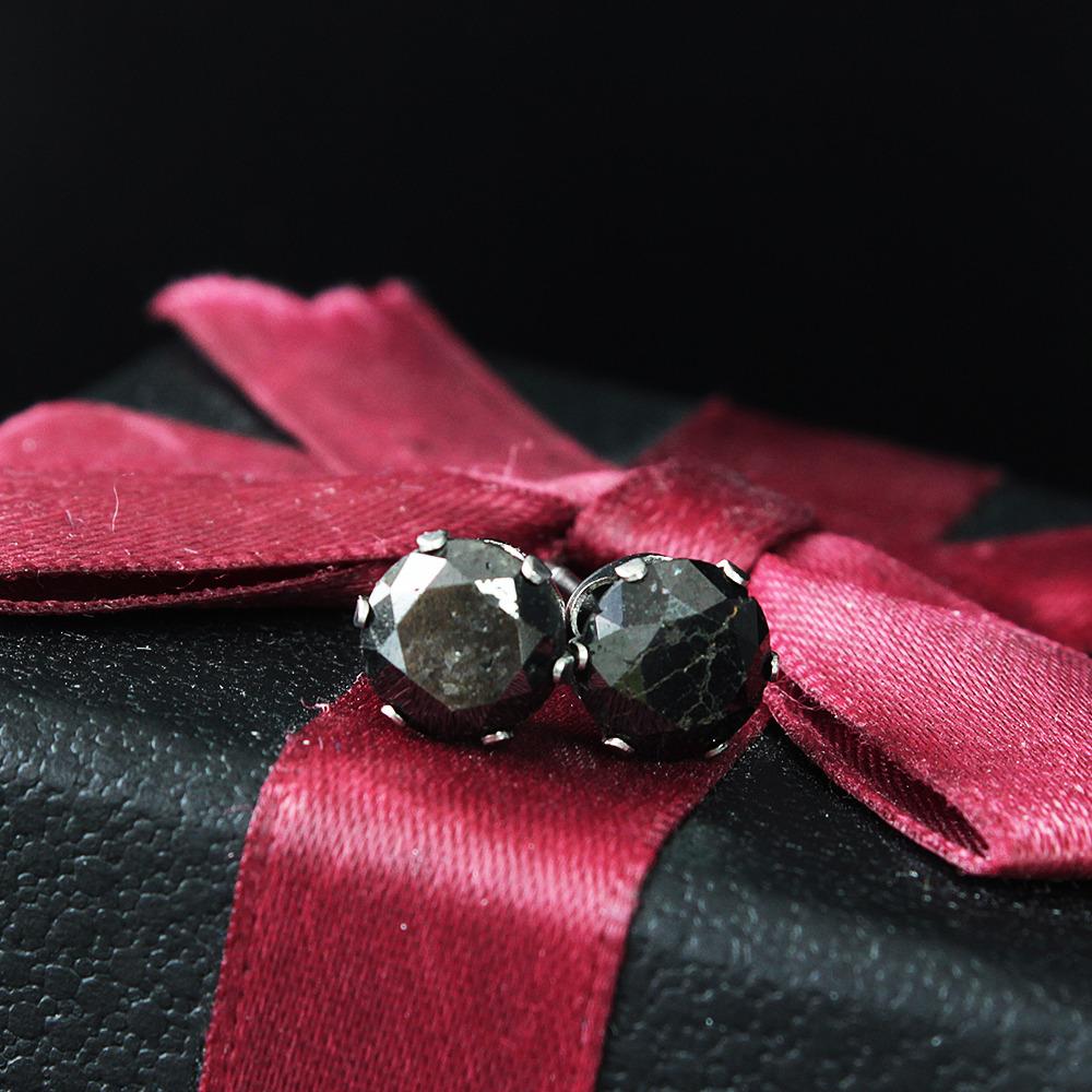 【在庫処分値下げ】 One&Only Jewellery 【鑑別書付】 計 3ct ブラック ダイヤモンド SS316L ステンレス スタッド ピアス 4月誕生石 //