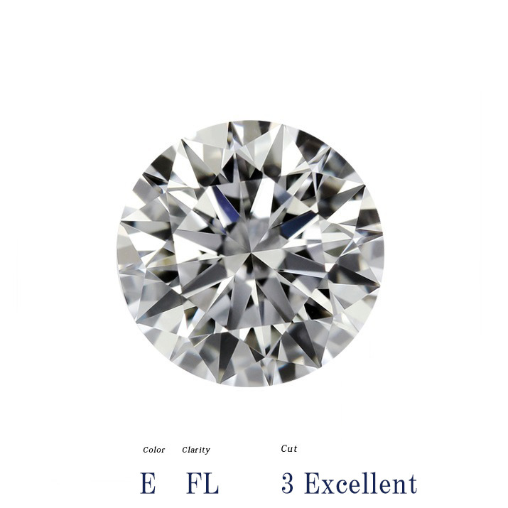 【在庫処分値下げ】 真に価値あるダイヤモンド、現金よりも有利、安心で持ち運べる世界一安全な資産!【GIA鑑定書付 】3.44ct E FL 3EX 天然 ダイヤモンド ルース // 【コンビニ受取対応商品】
