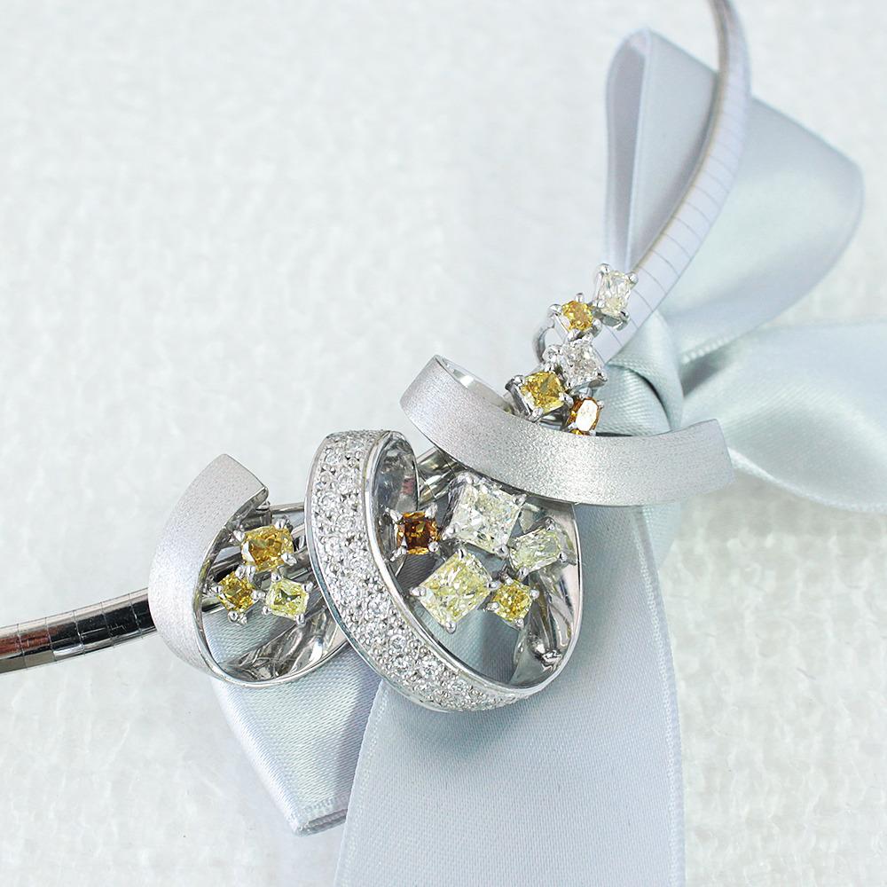 【鑑別書付】 2.5ct ダイヤモンド K18 ホワイトゴールド ペンダント ブローチ 2WAY ネックレス 4月誕生石// 【コンビニ受取対応商品】