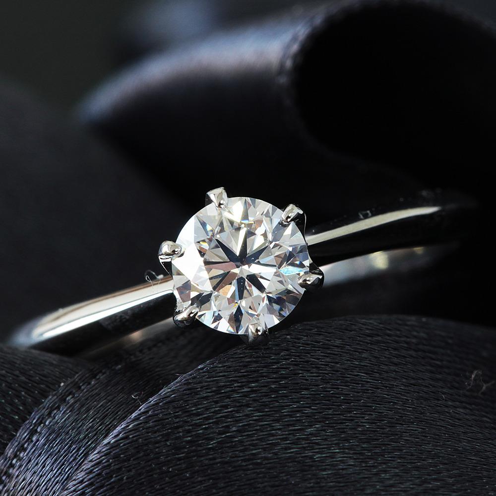 【在庫処分値下げ】 【鑑定書付】0.5ct J VS-1 Good ダイヤモンド Pt900 プラチナ リング 指輪 4月誕生石//