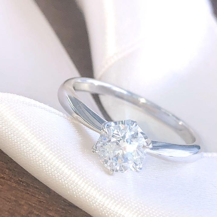 【在庫処分値下げ】 【鑑定書付】0.6ct J H Excellent ダイヤモンド Pt900プラチナ リング 指輪 4月誕生石// 【コンビニ受取対応商品】