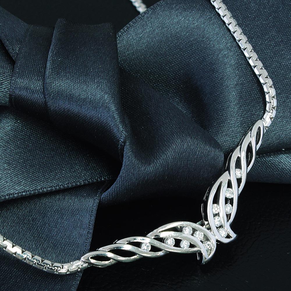 【鑑別書付】0.24ct ダイヤモンド Pt850 プラチナ デザイン ペンダント ネックレス 4月誕生石// 【コンビニ受取対応商品】
