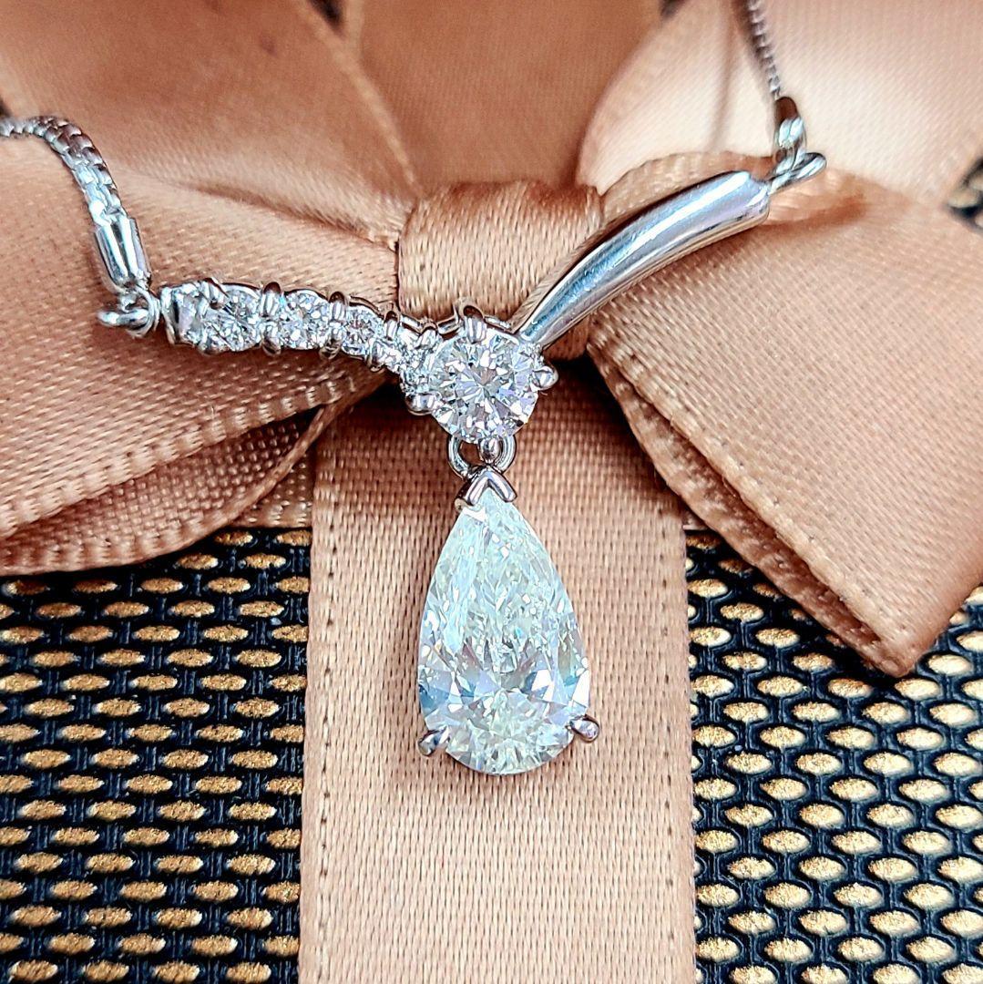 【鑑別書付】0.21ct ダイヤモンド Pt900 プラチナ ペンダント ネックレス 4月誕生石 【コンビニ受取対応商品】