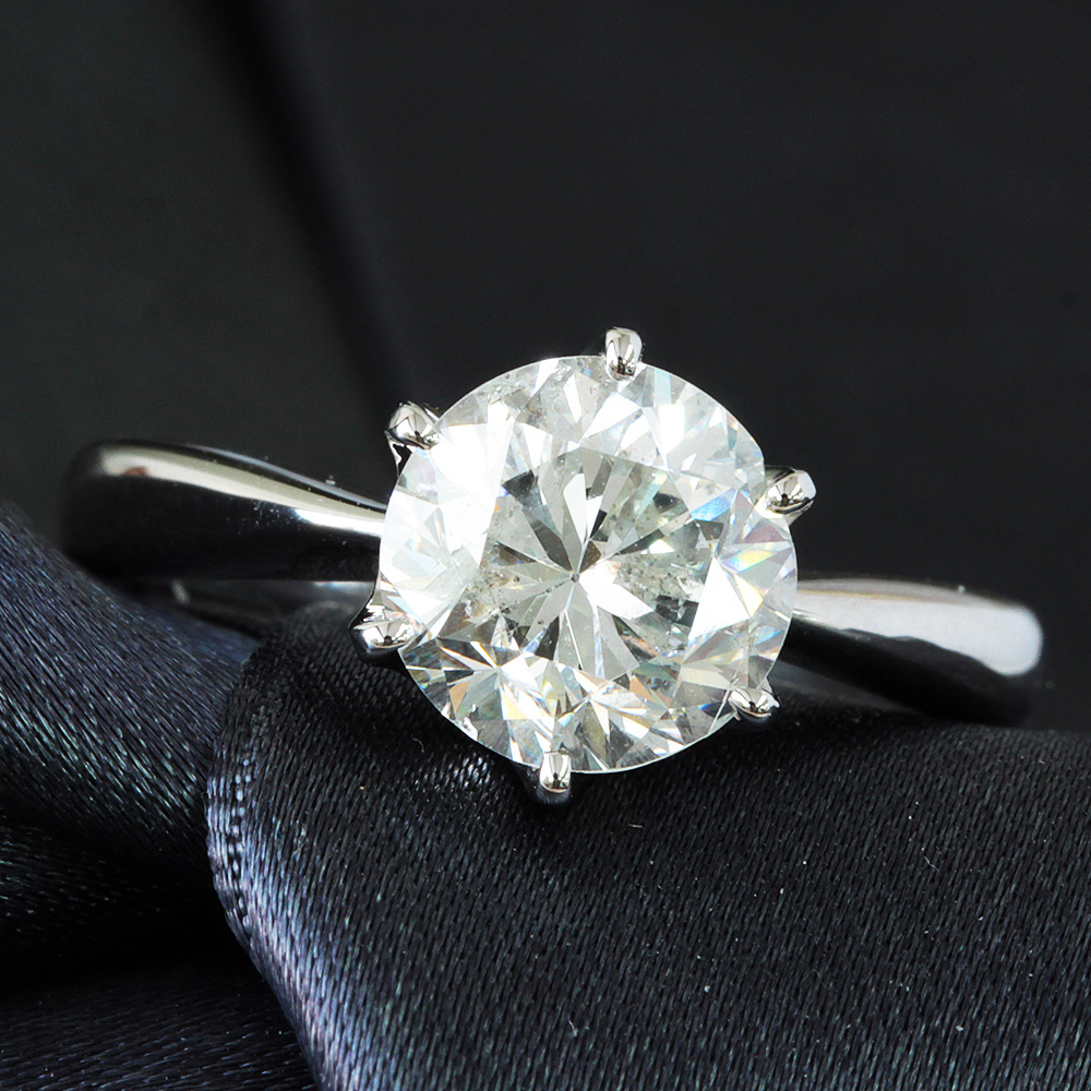 【鑑定書付】2ct H SI-2 ダイヤモンド Pt900プラチナ リング 指輪 4月誕生石// 【コンビニ受取対応商品】