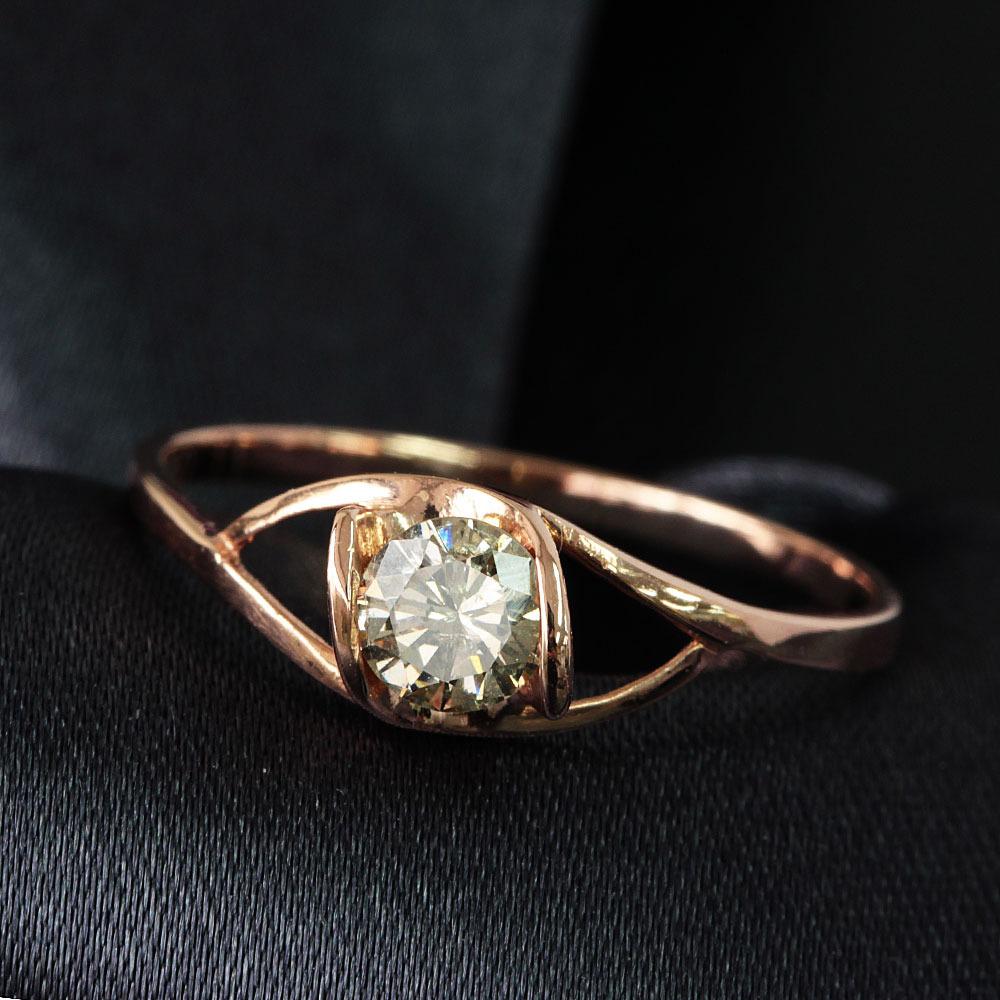 【鑑別書付】 0.29ct ダイヤモンド K18 ピンクゴールド リング 指輪 4月誕生石[楽ギフ_包装] [送料無料]