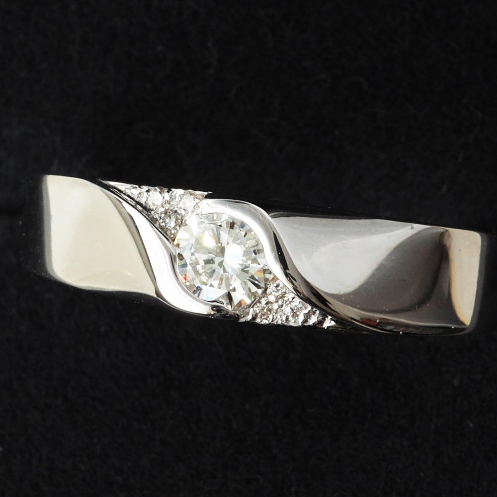 【在庫処分値下げ】 指輪 リング VSクラス 0.298ct IカラーVery Good 天然 ダイヤモンド K18WG 18金 ホワイトゴールド 4月誕生石 中宝鑑定書付