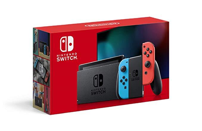 Nintendo SwitchJoy-Con(L) ネオンブルー/(R) ネオンレッド (バッテリー持続時間が長くなったモデル)【新品】【Nintendo Switch本体】【鈴鹿 専売品】【062-191025-01fs】