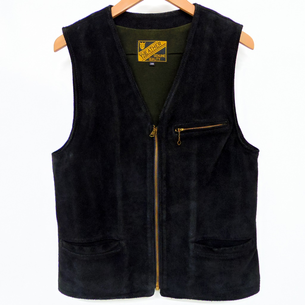 Y'2 LEATHER(ワイツーレザー) スエードベスト OW SUEDE ZIP VEST【中古】【アメカジ】【鈴鹿 併売品】【128-180413-01AS】